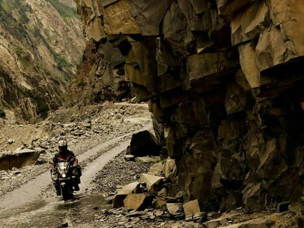 Killad - Keylong road Himalayas, India Motorcycle Touring Adventure Remote Location