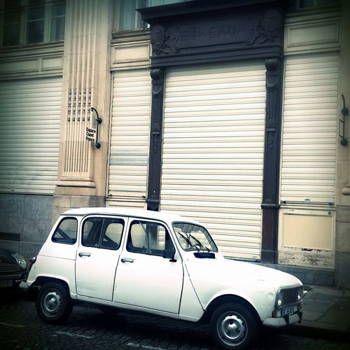 Renault 4 Old French Car Post Office