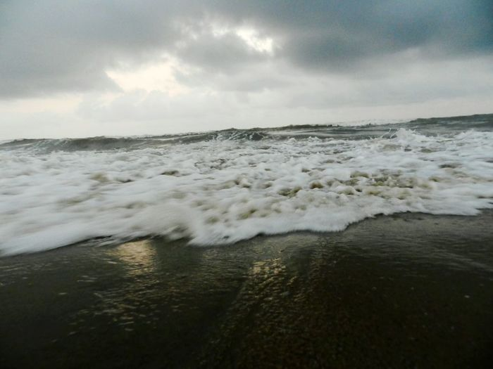 Life Thru A Crabs Eye Foamy Waves Pleasent Sky Original Experiences Marina Beach  Chennai