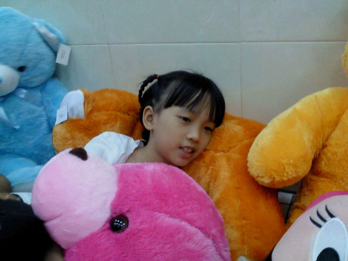 Girl Relaxing with doll