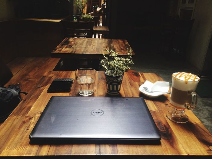 Working in tranquil Wood - Material Chilling Place Traquil Cafe Indoors  TakenbyVin Old Friend Somewhere In Hanoi