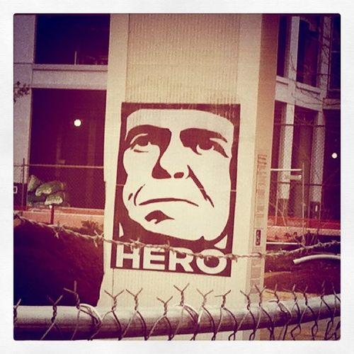 hero Street Graffiti Art HERO Repost Barbedwire Stickygramaday23