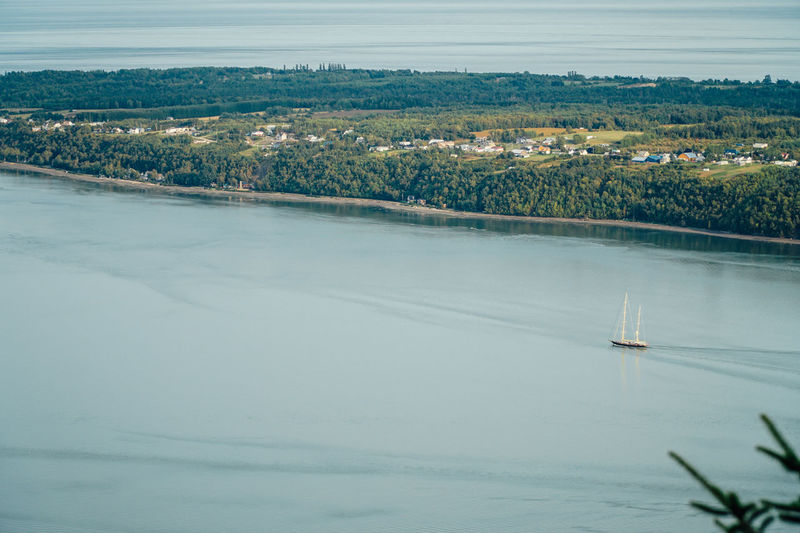 Quebec Tourist Attraction  Travel Aerial View Beauty In Nature Canada Canada Coast To Coast Day Lake Landscape Nature Nautical Vessel No People Outdoors Scenics Sky Tourism Tourism Destinations Tranquil Scene Tranquility Travel Destinations Tree Water Waterfront