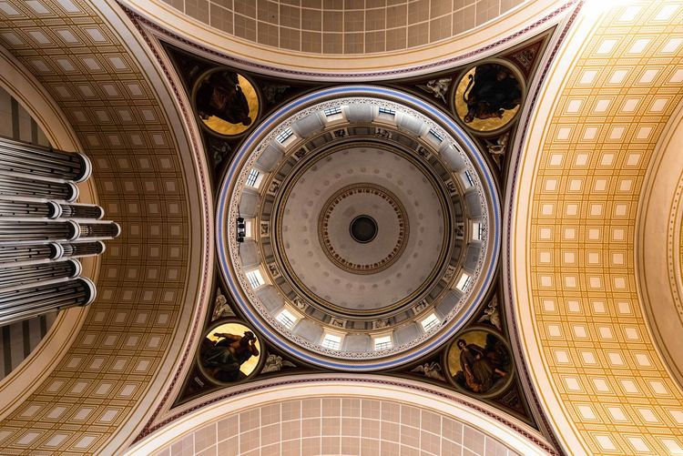 Blick in den Himmel, Potsdam, Germany Nikolaikirche Potsdam City Backgrounds Cupola Full Frame Pattern Religion Dome Close-up Architecture Built Structure Architectural Design LINE Cathedral