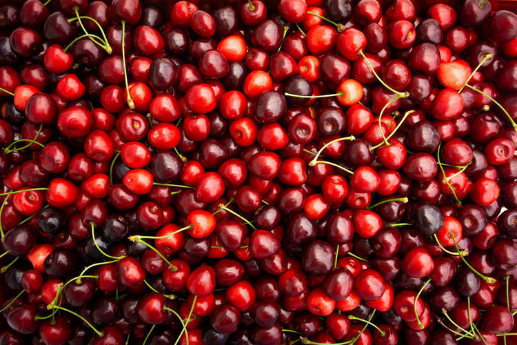 Full frame shot of cherries