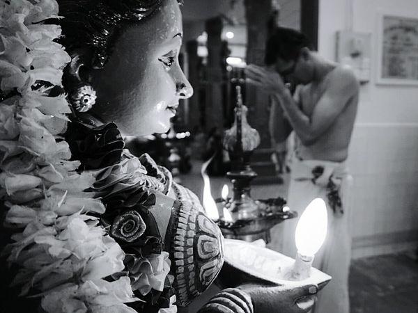 B&W Portrait of a devotee