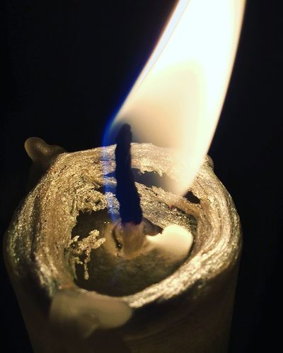 Burning Flame Candle