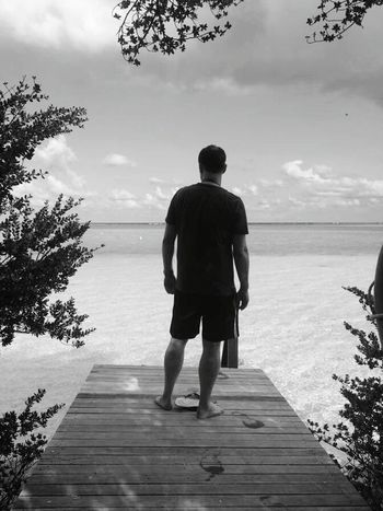 Indian Ocean Maldives Jetty Ocean Sky Enjoying Life Sunshine Holidays Taj Resort April 2016 Blackandwhite Samsung Galaxy S6