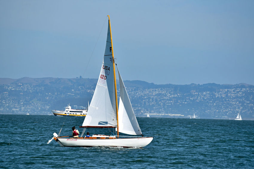 Sailing The Bay 1 San Francisco CA🇺🇸 Aboard The Alma 80 Ft. Scow Schooner Sailing San Francisco Bay Sailboats Blue And Gold Ferry The Color Of Sport Marin Headlands Bayview Open Sails Wind Power Landscape Seascape Landscape_Collection Landscape_photography People On Board Leisure Activity Enjoying Life Nature Beauty In Nature Nature_collection