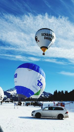 Outdoors Hot Air Balloon Vacations Day Adventure GreatWeather Skiing In Austria 👌 Ski Resort  ❤ Ski Resort  Love Kitzbüheler Alpen Ski Holiday Ski Resort  Lovely Kitzbühel Sun Beauty In Nature Nature Mountain Sky Cold Temperature Winter Snow Blue EyeEmNewHere