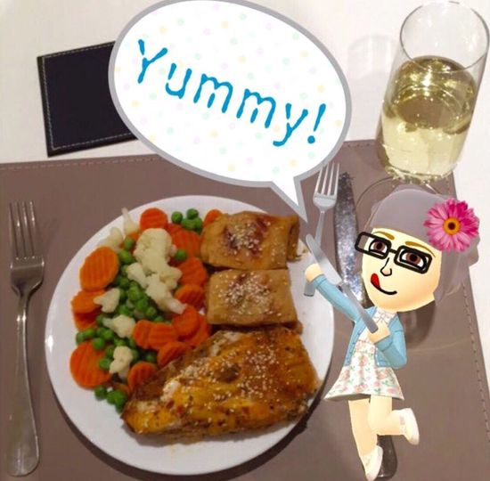 When you've haven't eaten all day and feeling starving, you cook yourself a yummy dinner. 🍴🍲😍🍷🍴 #food #foodcravings #hungry #dinner #munchies #miitomo #delish #yummy👌🏼#thehungerpains