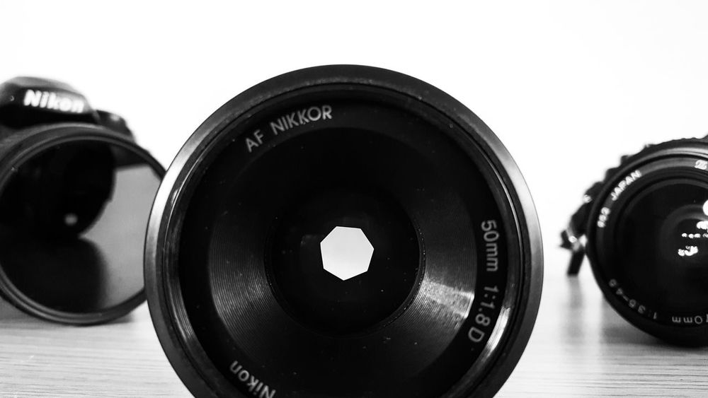 Iris 50mm Photography Themes Camera - Photographic Equipment Black Color Close-up White Background Film Industry Camera - Photographic Equipment Blackandwhiteworld 50mm F/1.4 Yashicafx3 Retro Styled