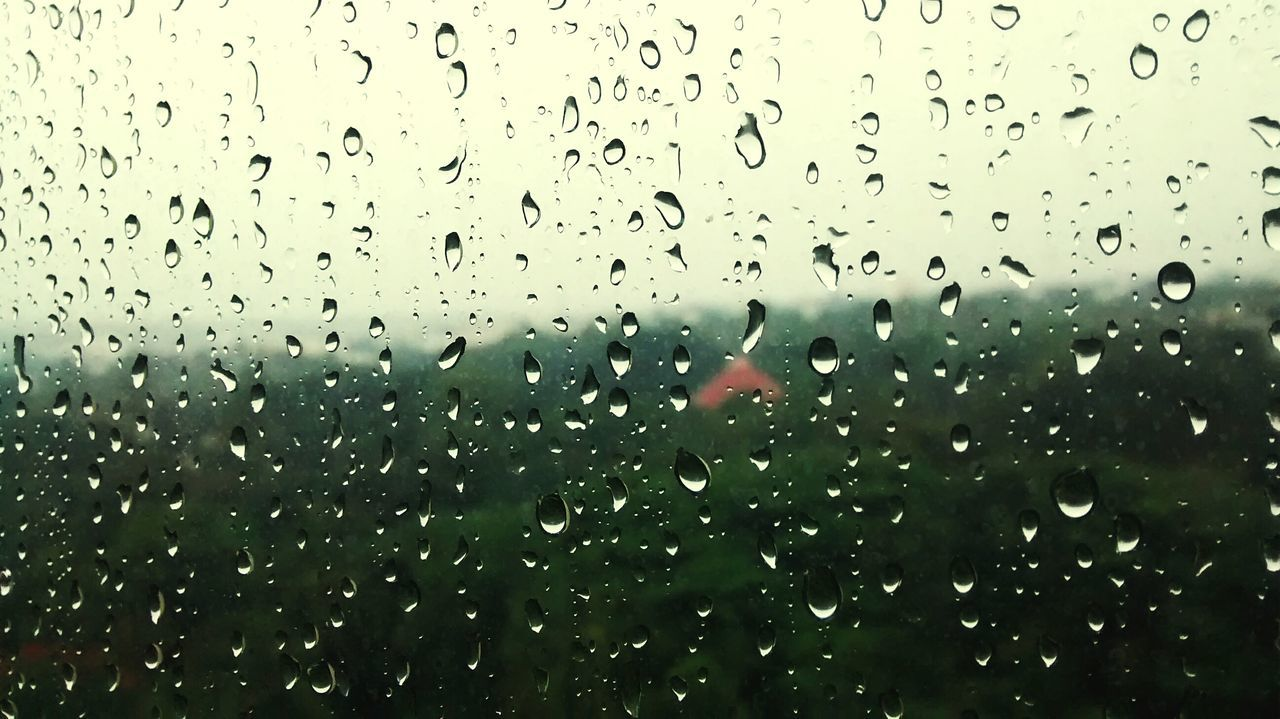 drop, water, wet, rain, window, backgrounds, raindrop, full frame, no people, weather, indoors, nature, day, close-up, freshness, sky
