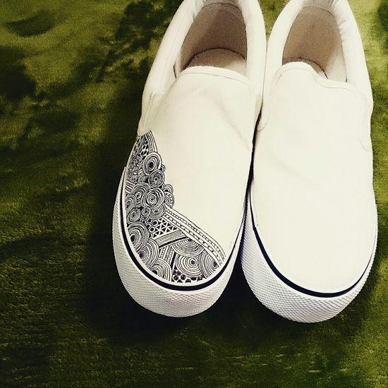 ペンがなくなった Painting Shoes Lacgaki