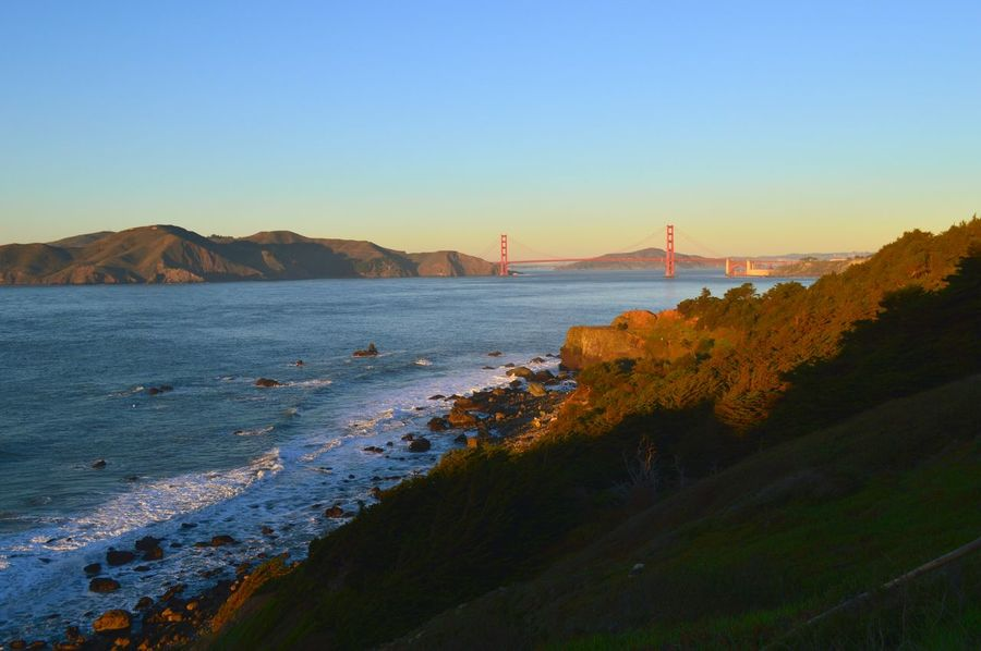 Water Ocean Landscape Travel Destinations Tree Bridge - Man Made Structure Outdoors Sunset No People Sky Day EyeEm EyeEm Best Shots EyeEmBestPics Eyemphotography Colorful San Francisco Trees Nikon3200 Nikonphotography Hiking EyeEm Nature Lover Blue Sky Pretty View