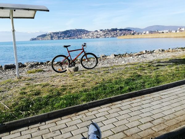 Ohrid, Macedonia Ohridlake Outdoors Cycling Nature Sky Beauty In Nature Bicycle Pedal Water First Eyeem Photo