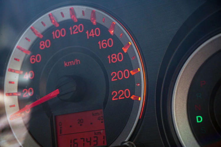 Car Dashboard Meter RPM Close up with Mirror Reflection Cars City Dashboard View Transportation Accuracy Car Close Up Close-up Dashboard Day Gauge Meter No People Number Red Rpm Speedometer Technology Transportation Vehicle Part
