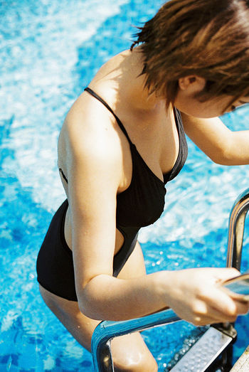 35mm Film Film Outdoors Leisure Activity Lifestyles People Young Adult Swimming Pool Summer Girls