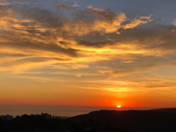 Sunset Sky Scenics - Nature Beauty In Nature Cloud - Sky Tranquility Orange Color