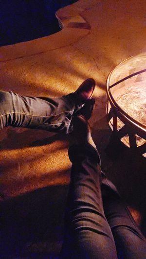 Feet around the