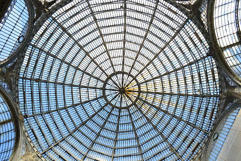 Architectural Detail Architectural Feature Architecture Architecturelovers Backgrounds Built Structure Ceiling Design Full Frame Galleria Vittorio Emanuele Geometric Shape Glass - Material Indoors  Interior Italy Light Low Angle View Metal Modern Napoli No People Pattern Repetition Simmetrical Skylight