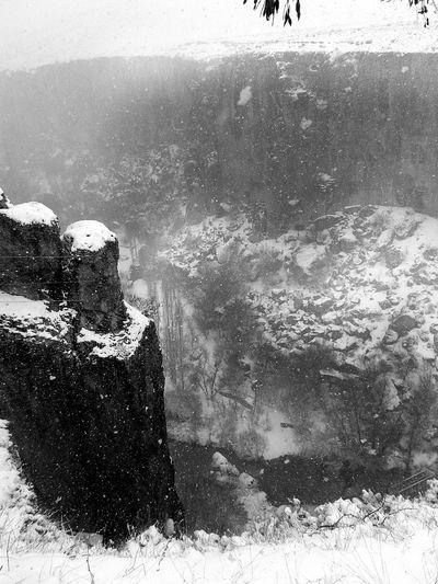 Cold Temperature Snow Season  Winter Water Frozen Nature Day Non-urban Scene Splashing Scenics Outdoors Power In Nature Flowing Beauty In Nature Tranquility Sea No People Tranquil Scene Steep Ihlaravadisi Cappadocia