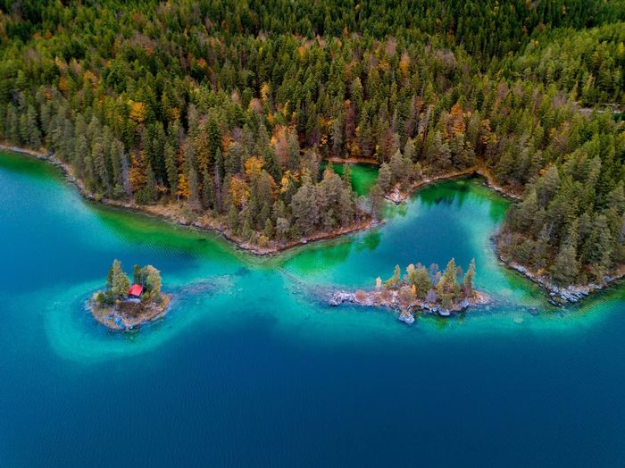Eibsee Water Beauty In Nature Scenics Nature Tree Day Mountain Outdoors No People Sky Perspectives On Nature Zugspitze Deutschland Germany Bayern Germany
