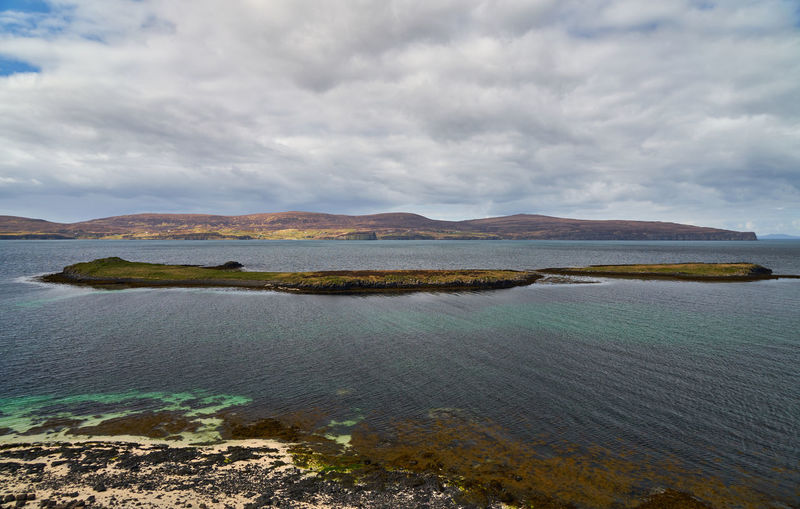 Cloud - Sky Sky Water Scenics - Nature Beauty In Nature Tranquil Scene Tranquility Mountain Sea Nature Day Idyllic No People Land Non-urban Scene Beach Outdoors Environment Coral Beach, Isle Of Skye Isle Of Skye Scotland Coral Beach