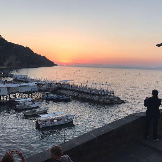 Sorrento, Italia Sorrento Coast Sea Italy Boats Sunset No Edit/no Filter
