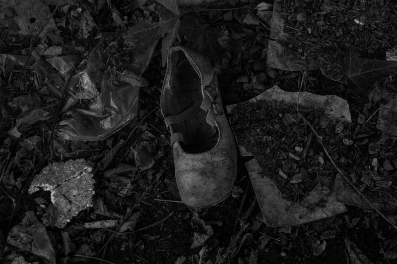 Close-up No People Urbexphotography Toulouse France Urbex France Urbexexploring Urbex Urbexphotography Abandoned Abandoned Black And White Photography Urbexexplorer Blackandwhite Black & White Shoes Child