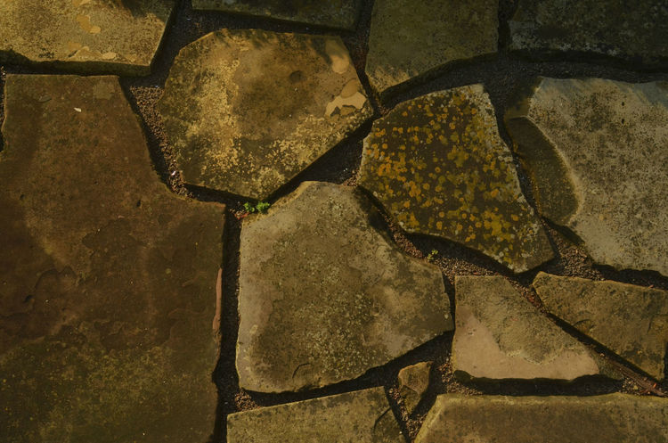 flagstone sidewalk in early morning light Backgrounds Close-up Day Flagstone Path Flagstones Full Frame No People Outdoors Stone Material Textured
