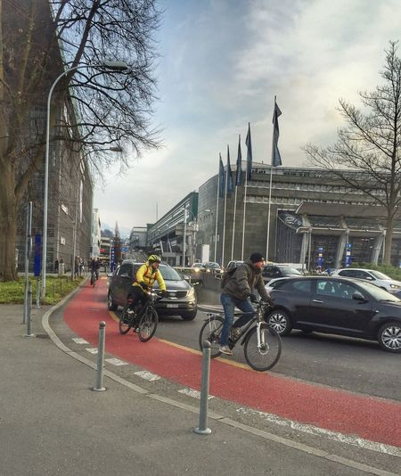 Lucerne Busy Busy Street Traffic Vehicle Transportation Action Cycling Cyclist Bicycle Junction Outdoors Street Streetphotography Road On The Road Check This Out Rush Hour Urban City