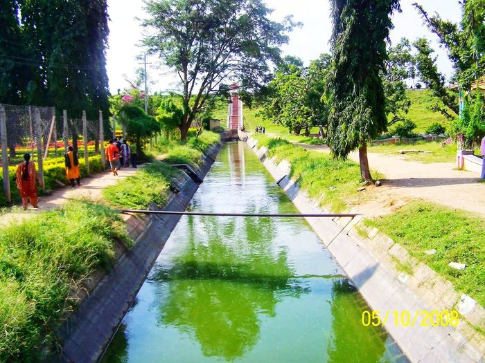 Stream Tree Water Reflection Sky Flood Rainy Season Fountain