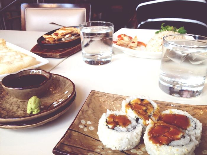 Dinner - chicken teriyaki sushi and egg fried rice. Mmmm... :)