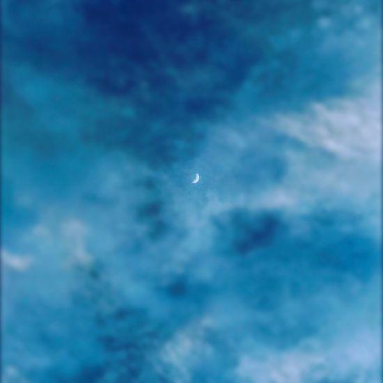 Blue Nature Cloud - Sky Moon No People Astronomy Enjoying Life