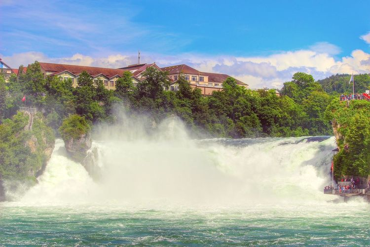Water Falls Landscapes Landscape_photography Landscape #Nature #photography Landscape Landscape_Collection Waterfall_collection Waterfall Water Water_collection Waterfront Rocks And Water Rock Stones & Water Taking Photos Rhinefalls Rheinfall