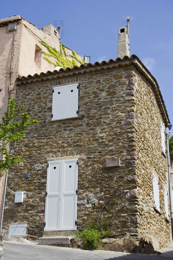 mediterranean home - gassin, village on the french riviera Ancient Architecture Brick Brick Wall Building Exterior Built Structure Côte D'Azur France Gassin Home House Medieval Mediterranean  No People Old Old Buildings Old Town Provence Residential Building Residential Structure Rowhouses Shutter Stone Wall Townhouse Village