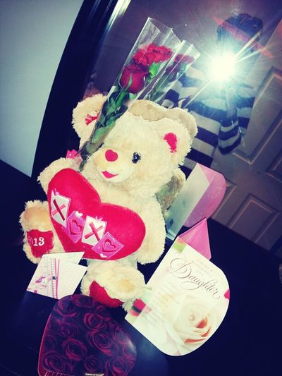 My Valenties stuff from my ma, da, and Trey <3