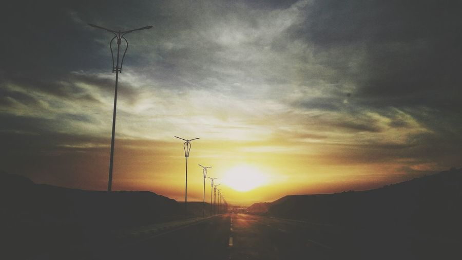 Sunset Everydayegypt Beauty In Nature Scenics Cloudy Day Myegypt Electricity Pylon Bird Fuel And Power Generation Cable Power Supply