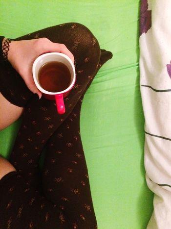 TK Maxx Socksie Socomfy MyComfortZone Greentea High Angle View Nail Polish Holding Socks Bed Green Green Green!