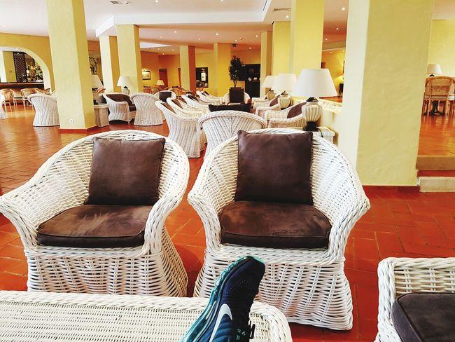 just chillin 😎 Nikerunning Vilamoura Algarve Chair Seat Sofa Armchair Hardwood Floor Luxury Architecture Luxury Hotel Hotel Hotel Reception