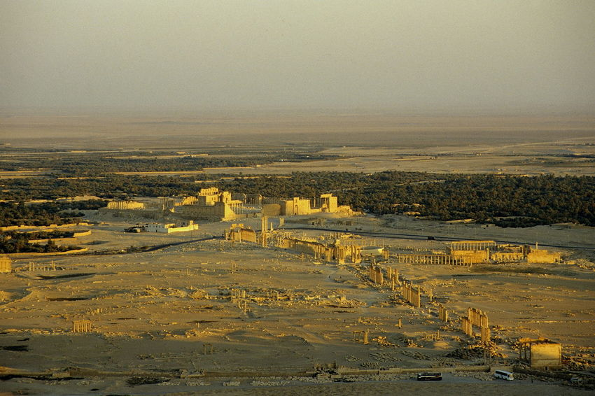 Palmyra before the civil war. Antiquity Architecture Beauty In Nature City Cityscape Colonnade Day Great Colonnade Nature No People Outdoors Palmyra Palmyra Ruins Roman Antiquity Ruins Sky Sunset Syria  Tadmor