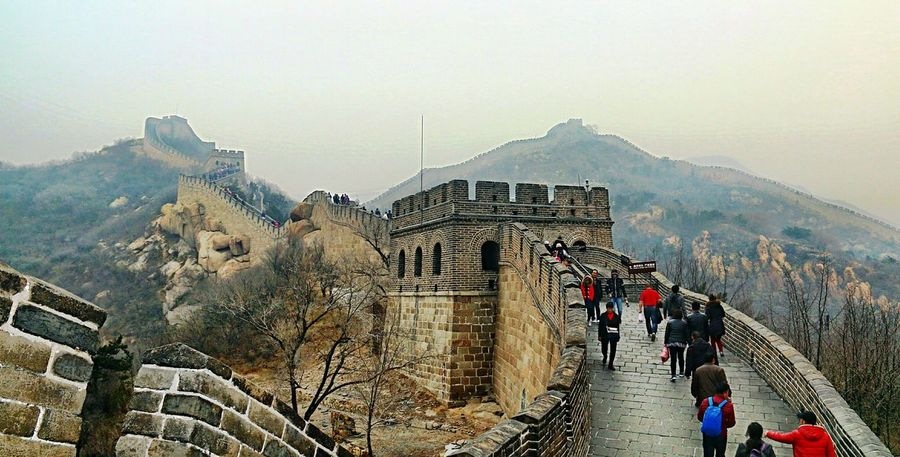 Great Wall Of China Great Wall Mountain Built Structure Architecture Shapes , Lines , Forms & Composition Shapes And Design Buildings Architecture Steps Beautiful China China In My Eyes Foggy Day Clouds BEIJING北京CHINA中国BEAUTY Miles Away 3XSPUnity