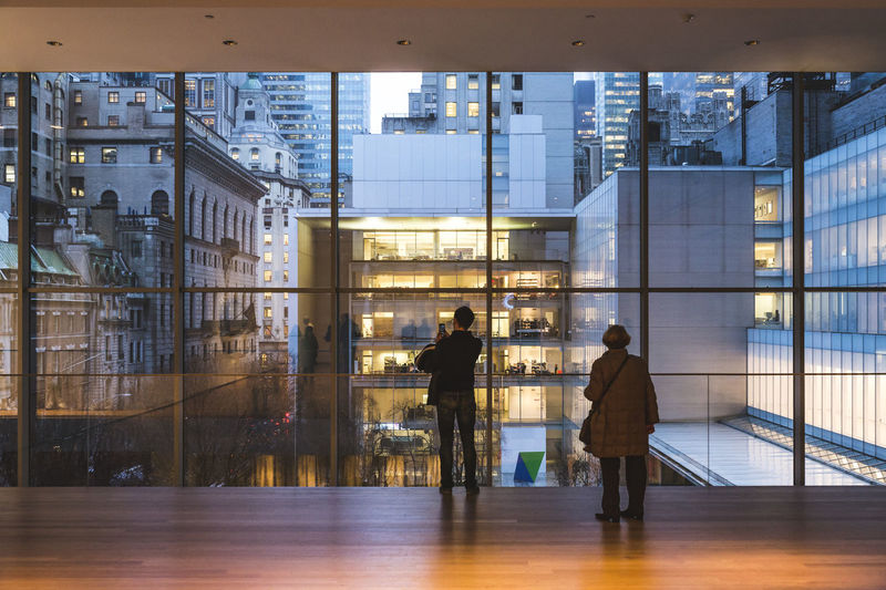 Architecture MoMA New York Moma N.Y. Museum Of Modern Art The Graphic City Architecture Art Built Structure City Cityscape Design Indoors  Interior Design Lifestyles Modern Museum Street Two People Window Stories From The City