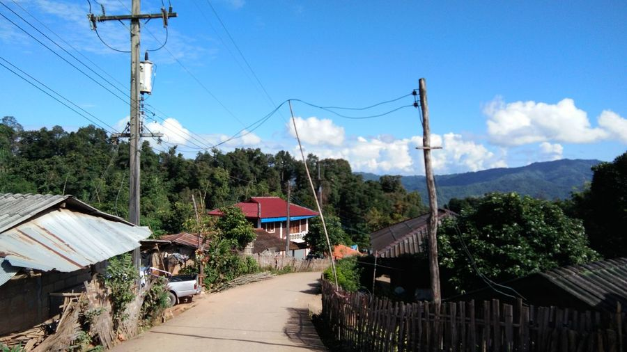Cloud - Sky Cable Outdoors No People Telephone Line Rural Scene Mountain Day Thailand🇹🇭 Mae Salong Chiang Rai, Thailand Trail Running MST2017