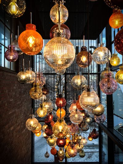 Night No People Low Angle View Electric Light Indoors  Light Chandelier Ceiling Lantern Design