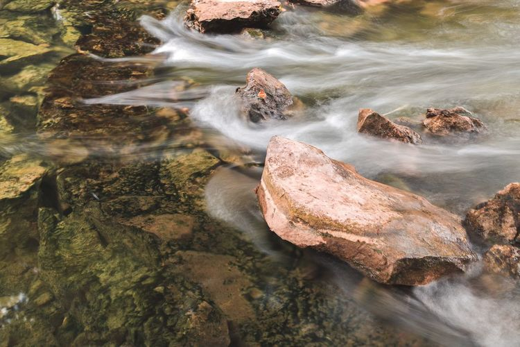 水中石 长曝光 流水 水 Water Nature Sea Rock No People High Angle View Solid Day Rock - Object Outdoors Reflection Beauty In Nature Animals In The Wild Land Tranquility Sea Life Animal Wildlife Sand Beach Marine