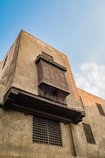 Built Structure Architecture Cairo Egypt Travel Destinations Tourism Vacations Awe Ancient Structures Low Angle View Sky Building Exterior Building No People Day Window Nature Outdoors Old Clear Sky Blue Residential District Sunlight Brown Abandoned Spirituality