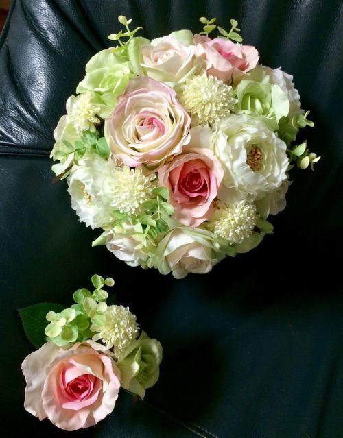 Wedding Bouquet Boutonniere My Handmade My Wedding Ceremony 2015  October Rosé