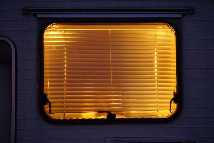 blindes Travel Blinds Sunset Window Windows Sunsets Golden Hour Illuminated Yellow Metal Grate Window Blinds Symmetry Closed Shutter Locked Latch